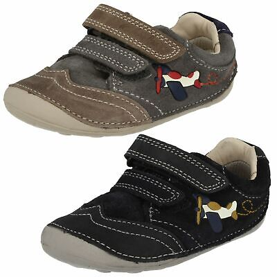 Boys Clarks Cruiser First Shoes 'Tiny Liam' • 15£