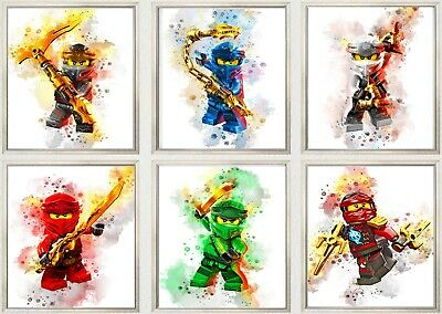 Lego Ninjago Sensei Lloyd Jay Kai 3D Wall Sticker Poster Decal Mural Room Z685 • 10.99£