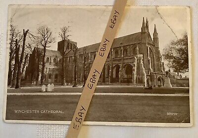 £4.99 • Buy Old Postcard - WW2 1944 Winchester Cathedral Sent To Cosham, Portsmouth 1944