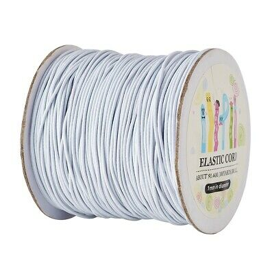 $ CDN12.75 • Buy 100Metres/roll White Round Elastic Cord 1mm Widths Cord