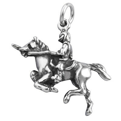 Knight On Steed Charm Sterling Silver .925 History Horse Shining Armour Soldier • 10.99£