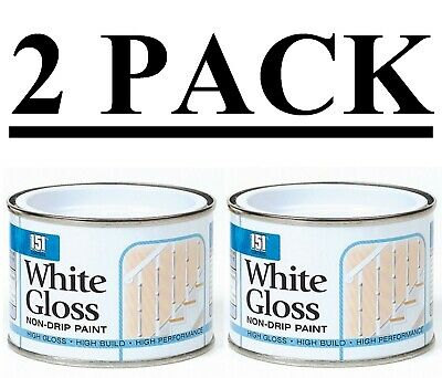 2pk White Gloss Non Drip Paint Topcoat Pipes Hard Dry Concrete Stairs Banisters • 9.99£
