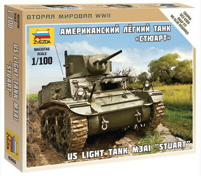 AU9 • Buy Zvezda Models 1/100 (Snap-Fit) US Light Tank M3A1  Stuart