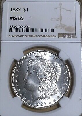 $115 • Buy 1887 NGC MS65 Morgan Silver Dollar