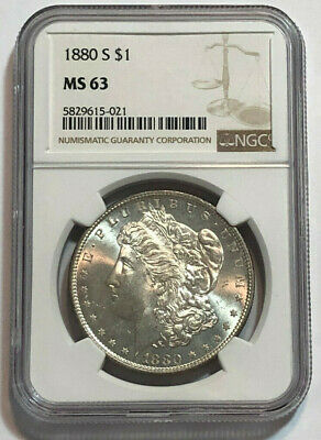 $35 • Buy 1880-S $1 Morgan Silver Dollar NGC MS 63