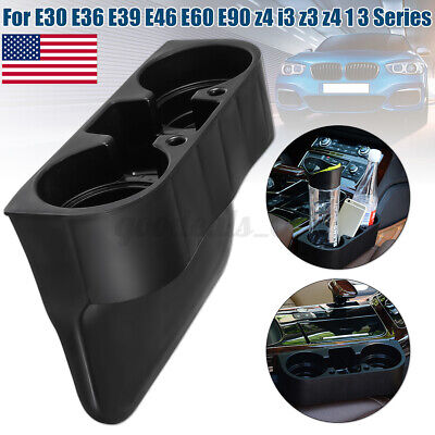 $13.47 • Buy Black Front Drink Cup Holder For BMW 1 3 5 Series E30 E60 E90 Z3 Z4 Plastic USA