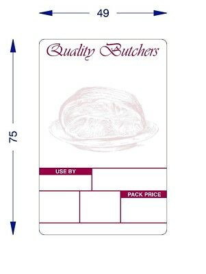 Avery Scale Thermal Labels For Butchers 49 X 75 Thermal Labels 16 Rolls X 500 • 42.99£