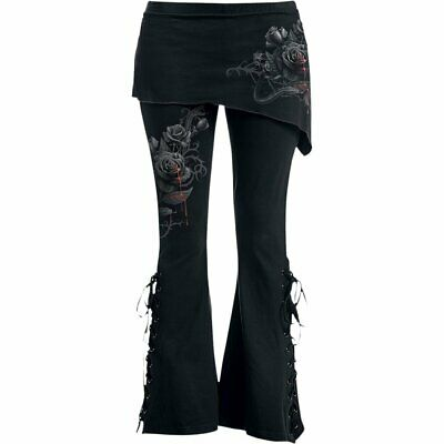 FATAL ATTRACTION - 2in1 Boot-Cut Leggings With Micro Slant Skirt • 25.99£
