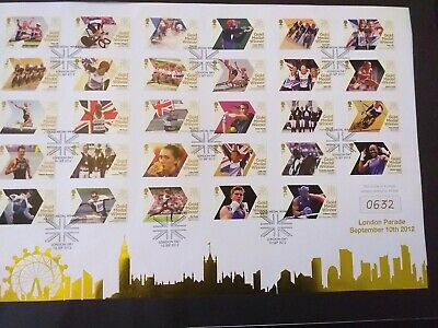 £110 • Buy London 2012 Olympic Games Team Gb 29 Royal Mail Gold Medal Winners Stamps