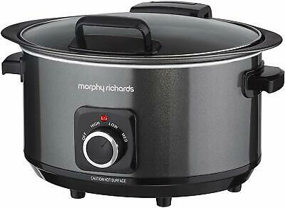 Morphy Richards Sear & Stew Slow Cooker 3.5 Litre With Hinged Lid Black 460020 • 29.99£