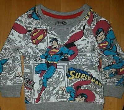 M&S Kids Boys' Superman Jumper 6-9mnths - 80% Cotton - Brand New With Tags • 10.59£