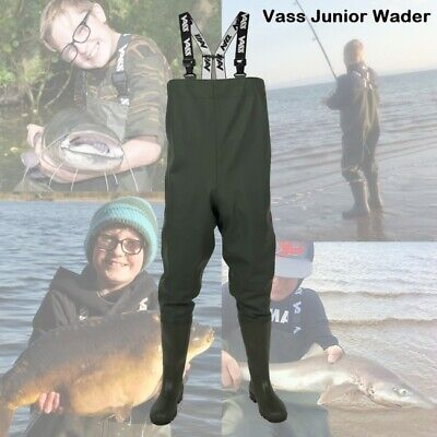 New Vass Tex 600 Junior Kids Women Series Chest Wader VA600-70J  - Carp Fishing • 51.94£