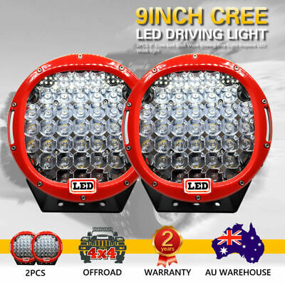 AU118.73 • Buy 2 PCS 9inch 99999W Cree Led Spot Work Driving Lights OFFROAD Hot Sale Red Lights