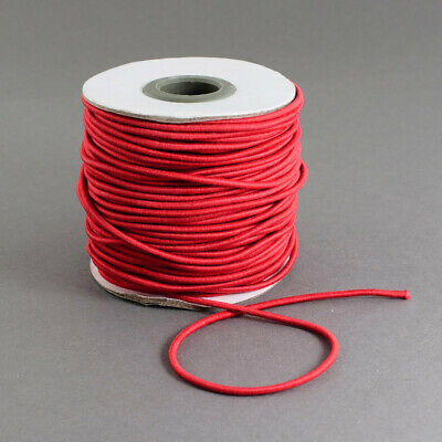 $ CDN12.75 • Buy 45m/roll 100m/roll Round Elastic Cord 1mm 1.5mm Widths Cord  Red