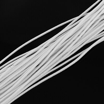 $ CDN18.22 • Buy 100m/bundle White Round Elastic Cord 2mm With Fibre Outside And Rubber Inside