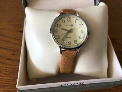 Anaii Ladies Fashion Silver Watch Beige Strap With Box See Pictures • 4.49£