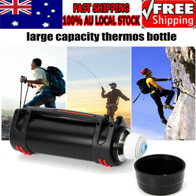 AU28.88 • Buy Black 2L Stainless Steel Thermos Bottle Travel Mug Flask Thermal Water Insulated