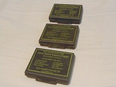 British Army Face Paint Camouflage – 3 X NATO Packs – Used Acceptable • 3.99£