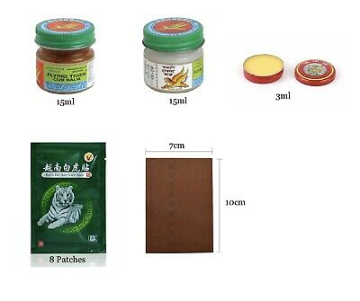 TIGER BALM RED WHITE Relief From Headaches, Muscular, Joint Aches & Body Pain • 3.79£