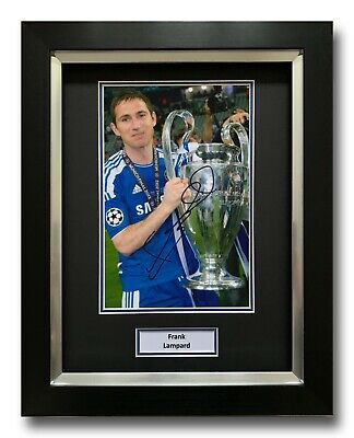 Frank Lampard Hand Signed Framed Photo Display - Chelsea Autograph - Football 1. • 124.99£