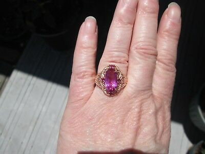 $32.99 • Buy African Lilac Quartz Ring Size 7 Rose Gold Over Sterling Silver TGW 3.76 Cts.