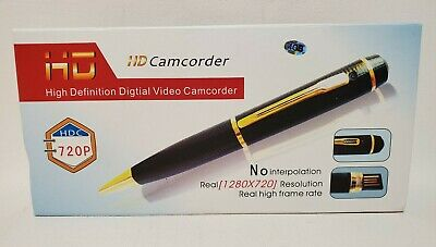 £17.70 • Buy HD Camcorder Black & Gold Colored SPY PEN 32GB Space