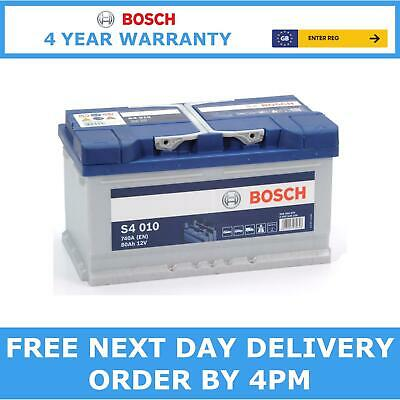 110 Heavy Duty Bosch S4010 Car Battery 12V 80Ah With 4 Year Warranty • 82.95£