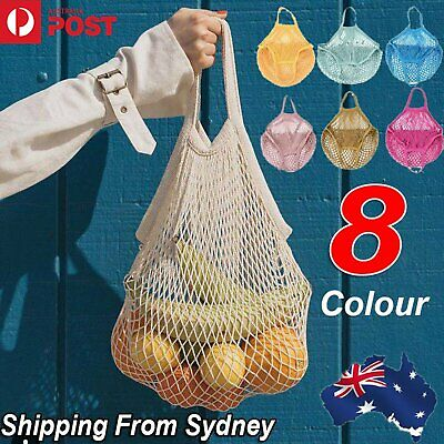 AU4.49 • Buy AU Mesh Net Turtle Bags String Shopping Bag Reusable Fruit Storage Handbag