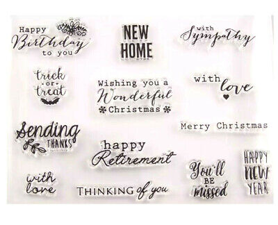 13sentiments Stamps/words/sayings Stamps/new Home/thanks/birthday/christmas/love • 5.50£