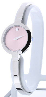 $495 • Buy Movado Bela Watch 0606596 Silver Stainless Steel Band Silver Case Pink Dial 25mm