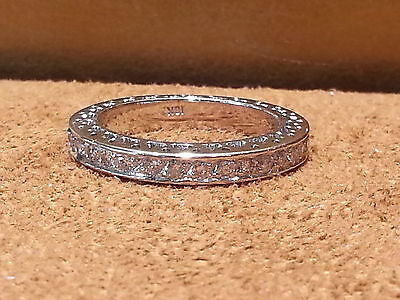 $1400 • Buy 14KT White Gold Ladies Diamond Band With 1.10 CT. Eternity