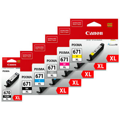 AU26 • Buy Genuine Original Canon 670XL / 671XL Black And Colour / Value Pack Ink Cartridge