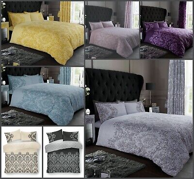 EMPIRE DEMASK Printed Duvet Quilt Cover Pillowcases Set Size Single Double King  • 12.45£