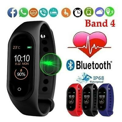 M4 Smart Band Watch Bracelet Wristband Fitness Tracker Pressure Heart Gifts H5Y1 • 3.85£