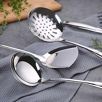 AU22.88 • Buy 6Pcs Stainless Steel Kitchen Cooking Utensil Set Colander Spoon Cookware Set AU