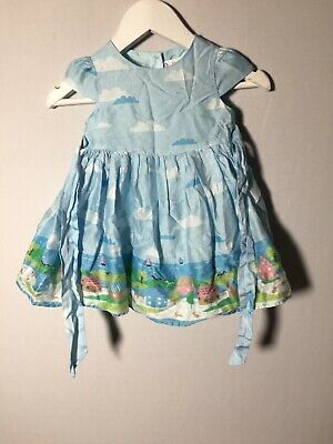 AU21.05 • Buy John Lewis Baby Girls Blue Dress Size 6-9 Months Cotton Good Condition