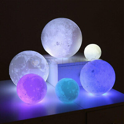 16 Colour Moon Galaxy Lamp USB Night Light Kids Dimmable LED 3D Remote Control  • 8.99£