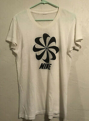 $ CDN181.97 • Buy Vintage Nike T-Shirt 70s Pinwheel Swoosh Size M Printed On Jockey