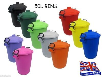 £14.95 • Buy Coloured Bin 50l Litre Ideal For Animal Feed Horses Cats Dogs Birds