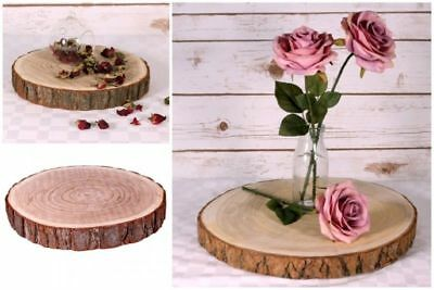 Natural Wood Log Slice Table Centrepiece Or Tree Bark Wedding Cake Stand  • 15.95£