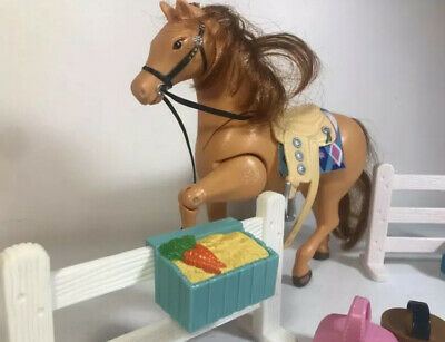 HORSE FISHER PRICE 8  Brown Mane Tail & Accessories Toy Sound Effects Lot 8 • 14.58£