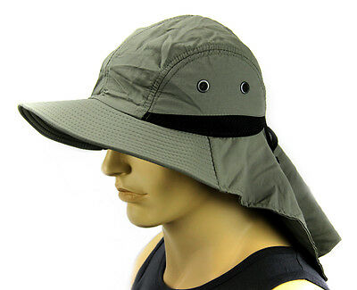 $6.85 • Buy Boonie Cap Sun Flap Bucket Hat Ear Neck Cover Sun Protection Soft Material-Olive