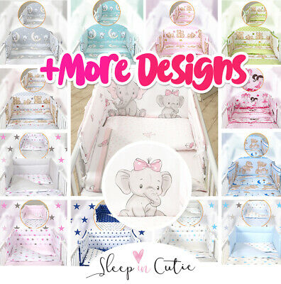 £34.99 • Buy BABY ELEPHANT BABY BEDDING SET - Fit Cot 120x60cm Or Cot Bed 140x70 +50 DESIGNS