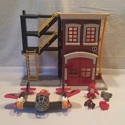 Fisher Price Imaginext Fire Station Rescue Tower W/ 5 Accessories, 2007,  N0764 • 7.52£