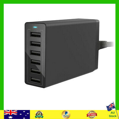 AU24.99 • Buy Multi 6-Port USB Charger Smart Rapid Charging Station Desktop Travel Hubs Black