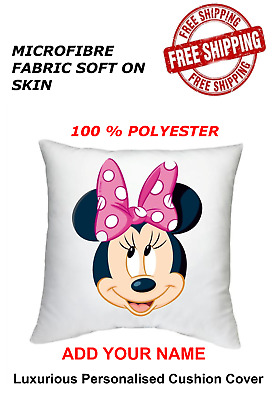 Personalised Minnie Mouse Cushion Cover 40x40 Cm All Occasion Gift • 6.99£