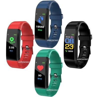 $ CDN17.02 • Buy New SMART WATCH Fitness Activity Tracker Fitbit Android IOS Heart Rate UK Seller