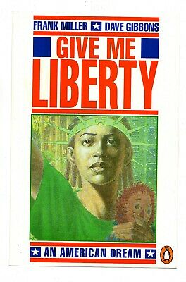 GIVE ME LIBERTY Large Postcard (7 By 10 Inch) Signed BY FRANK MILLER (Penguin) • 19.99£