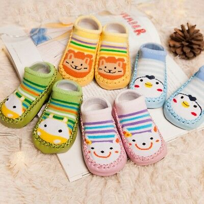 Baby Socks  Non-Slip Cartoon Children's Slipper Infant Toddler Shoes • 3.99£