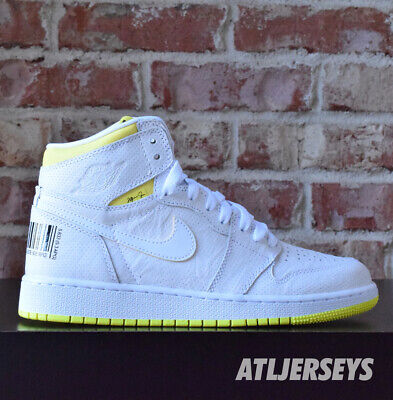 $199.99 • Buy Nike Air Jordan 1 Retro High OG GS First Class Flight White Yellow 575441-170